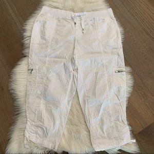 Rafaella Sport White Capri Cargo Pants 16